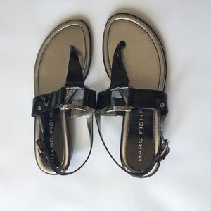 Marc Fisher T-Strap Thong Sandals